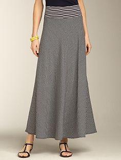 Stripe Long Skirt $89