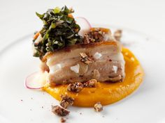 Braised Pork Belly With Sweet Potato Puree - Favorite Holiday Recipes From Historic Homes and Inns on HGTV