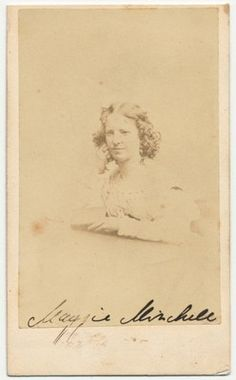 Signed Carte de Visite by Assassin John Wilkes Booth's alleged lover, Maggie Mitchell.  Mitchell was always openly sympathetic to the Confederate cause. She liked to dance on the American flag as a defiant stand in support to the South.  *s*