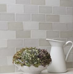Acquarella remains a popular collection of old-world wall tiles in an array of subtle pastel tones. Carpet Tiles, Tile Design, New Kitchen, Wall Tiles, Old World, Planter Pots, Environment, New Homes, The Originals