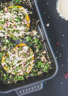 Healthy Stuffed Acorn Squash Salad! This recipe is perfect for Thanksgiving dinner!