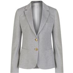 Women's GANT Jersey Pique Blazer (6.693.910 VND) ❤ liked on Polyvore featuring outerwear, jackets, blazers, pique jersey, jersey jacket, gant blazer, fitted jacket and fitted blazer