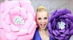 Cómo hacer flores ENORMES de foami o goma eva! Quedan muy grandes y super lindas! MAÑANA LES SUBO LOS PATRONES!!!!