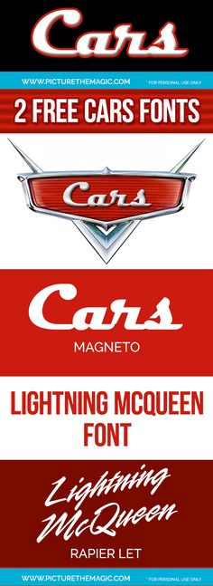 FREE Cars Font! Download this Disney Cars Font from the Cars Movie. Love this cars movie from Pixar!