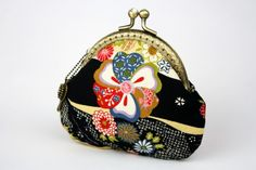 Sakura Chrysanthemum Coin Purse  Cotton Fabric with by CottonTimes, $18.90