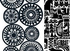 kalevala prints from marimekko Textile Patterns, Textile Design, Quilt Patterns, Marimekko Fabric, Bohemian Pattern, Best Graphics, Illustrations And Posters, Scandinavian Design, Finland