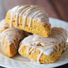 Glazed Pumpkin Spice Scones  via @feedfeed on https://thefeedfeed.com/pumpkin-spice/thebrowneyedbaker/glazed-pumpkin-spice-scones