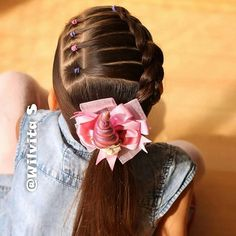 Little Girl Haircuts Little Girls Ponytail Hairstyles, Baby Girl Hairstyles, Pretty Hairstyles, Braided Hairstyles, Choppy Hairstyles, Quick Hairstyles, Birthday Hairstyles, Girl Hair Dos, Short Hair Cuts