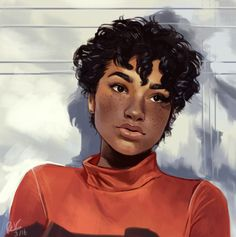 """electricgale: """" some portrait practice referenced from this picture! """" electricgale: """" some portrait practice referenced from this picture! Black Girl Art, Black Women Art, Art Girl, Black Art, Art Inspiration Drawing, Character Design Inspiration, Art Inspo, Art Et Design, Afro Art"""