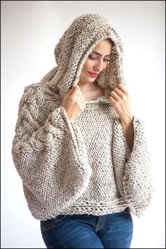 Poncho knitted two needles (TEJIDOS A DOS AGUJAS)