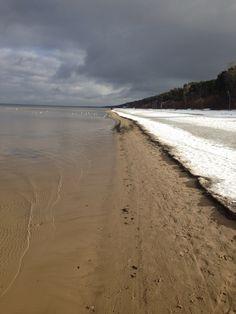 Snow at the beach.  Jurmala beach,Lettland,Latvia,Riga Trip