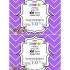 Click, Print, Cut, and add candy SMARTIES to celebrate the 100th Day of School!   Feedback is greatly appreciated! Thank you so much!! Kristina Sta...