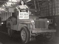 Last GPW jeep produced by Ford at one of its plants during World War II, 1945. The sign indicates it is number 93,389. The serial number is 20748944 ~