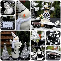 black and white snowman party!! I think I might have to throw one of these!