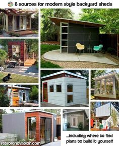 Backyard studio office inspiration!! 8 Sources for midcentury modern sheds — prefab, DIY kits, and plans