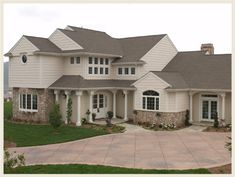 shingled white houses pictures | tan or beige homes brown or medium gray shingles