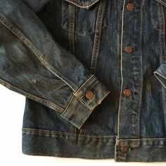 Vintage Jacket, Vintage Denim, Marvin The Martian, Clothing Labels, Levis, Type 3, 1960s, Medium, Big