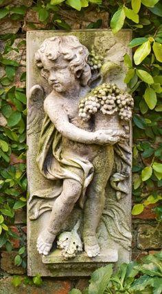 Angel on stone panel