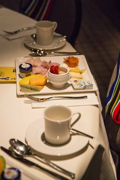 Swiss cold platter at the 2016 Brand SA Thought Leadership Breakfast in Davos for the World Economic Forum with CNBC Africa. #Davos #CNBCAfrica #Breakfast #Cheese #Fruit #Meat #WEF #Switzerland #Events
