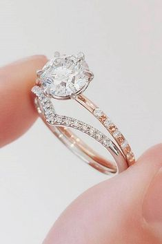 24 Beautiful Rose Gold Engagement #rings Rose gold engagement rings are on the edge of popularity these days, so we gathered here the most demanded designs to ease your task! http://glaminati.com/beautiful-rose-gold-engagement-rings/