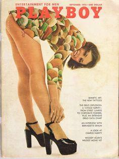 Zippo Playboy September 72 Cover Satin Chrome Windproof Lighter New RARE Beer History, Art History, Vargas Girls, Hugh Hefner, Playmates Of The Month, Playboy Bunny, Strip, Woody Allen, Cover Model