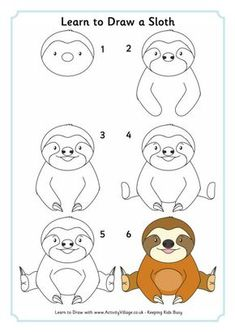 We use this cute sloth for our Rainforest Habitat Unit! Learn how to draw this sloth and other cute rainforest creatures! We use this cute sloth for our Rainforest Habitat Unit! Learn how to draw this sloth and other cute rainforest creatures! Cute Baby Sloths, Cute Sloth, Funny Sloth, Baby Otters, Rainforest Creatures, Rainforest Habitat, Sloth Drawing, Baby Animal Drawings, Drawing Cartoon Animals