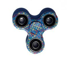 Cheap price Finger Spinner Fidget Spinner Toy for ADHD -Stress and Anxiety Relief- Super Fast Long Spins (Blue Emoji) on sale