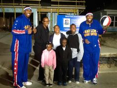 Harlem Globetrotters surprise the Hudson family this morning!