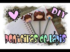 DIY - Ponteiras de Lápis / Pencil Toppers Eva Youtube, Diy, Decor, White Acrylic Paint, Make Art, Mothers, Decoration, Bricolage, Do It Yourself