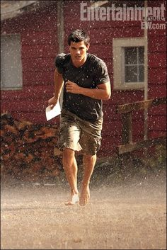 Jacob Black gets a wedding invitation -- and freaks -- in Breaking Dawn Part 1 (official photo).