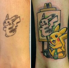 This Pikachu went from a bad middle school notebook sketch to a work of meta-art!