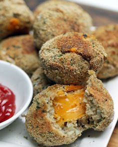 Cheese-Stuffed Cauliflower Nuggets