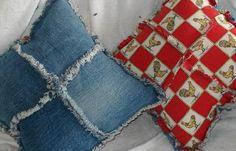 Denim Pillows: Recycle your denim jeans