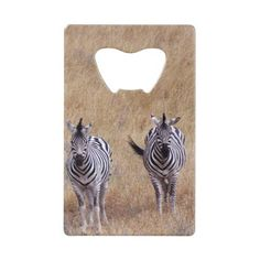 Zebra Horse Herd Animal Credit Card Bottle Opener - kitchen gifts diy ideas decor special unique individual customized