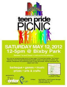 Teen Pride Picnic Announced