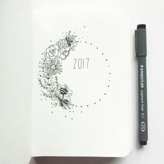 2017 bullet journal cover page