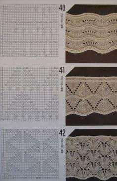 Коллекция узоров спицами