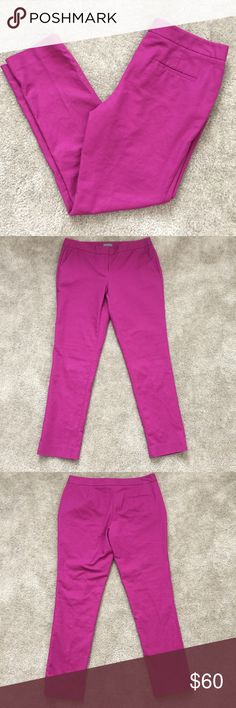 Vince Camuto skinny fit pants magenta Beautiful Vince Camuto skinny fit pants! Excellent condition! Never worn, washed once. Such a beautiful purple/pink magenta color, not to bright but just right! Vince Camuto Pants Skinny
