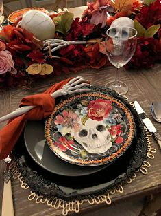 How to Style a Floral Table for Halloween - Celebrate & Decorate
