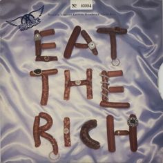 "For Sale - Aerosmith Eat The Rich - Gold Vinyl UK  10"" vinyl single (10"" record) - See this and 250,000 other rare & vintage vinyl records, singles, LPs & CDs at http://eil.com"