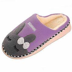 SAGUARO Winter Men Women Warm Cotton Shoes Bunny Slippers Indoor Anti-slip  2018 ae6ed0fd43c8