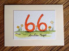 Happy Birthday by Akwarello ** Direkt über den Akwarello-Shop http://de.dawanda.com/shop/Akwarello bestellen! #birthday#Geburtstag#auguri#happy#happybirthday#watercolor#aquarell#glückwünsche#karte#cards#crafting#craft
