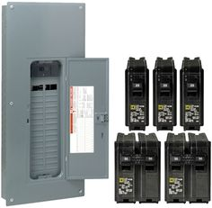 Square D 60-Circuit 30-Space 200-Amp Main Electrical Service Breaker Load Center #SquareD