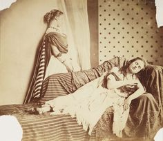 Isabella Grace and Clementine Maude Hawarden, c.1863 Lady Clementina Hawarden (1822-1865) Albumen print National Media Museum