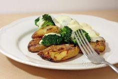 Pečené zemiaky s brokolicou a mozarellou Mozzarella, Broccoli, Beef, Vegan, Chicken, Vegetables, Meat, Vegetable Recipes, Ox