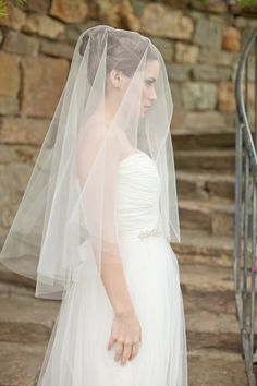 Tulle Circle Veil Bridal Veil - Want it longer.  Could I have it secured on my head so that I can have it lifted from my face then falling down my back?