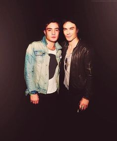 ed westwick and ian somerhalder / chuck bass and damon salvatore, this picture can't get any hotter!