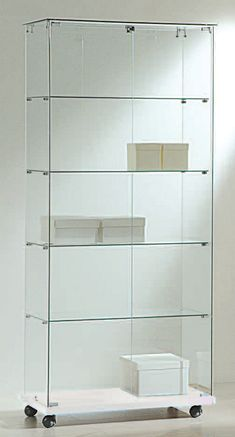 www.shopeinrichtung.com - Vitrine-ECO-fahrbar-B80H180-Glasdach--absperrbar Decor, Shelves, Shelving Unit, Home Decor, Shelving