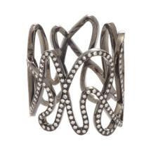 Repossi Diamond & Black Gold White Noise Ring