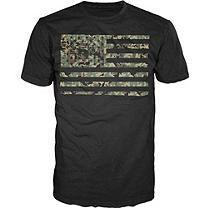 American Apparel Graphic Tee - Camo Flag XXL